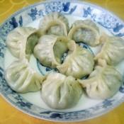 虾仁荠菜蒸饺