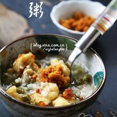 酸豇豆虾皮粥