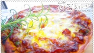 香茹鸡肉比萨的做法