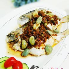 腊八蒜蒸海鱼