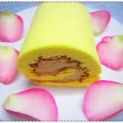 焦糖粟子奶油蛋糕卷