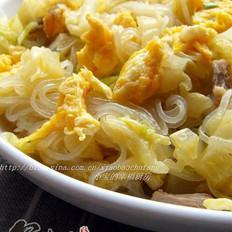 白菜粉丝炒鸡蛋