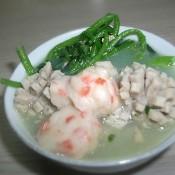 鱼肠虾丸肉丸浸西洋菜
