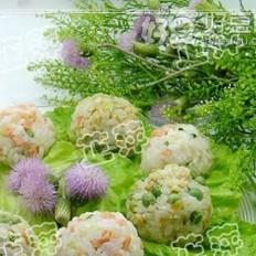 鸡肉豌豆饭团