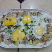 土豆鸡蛋蒸肉饼