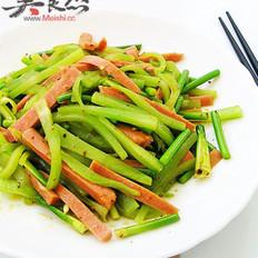 青笋炒香肠