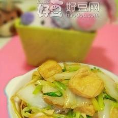 大白菜焖油豆腐