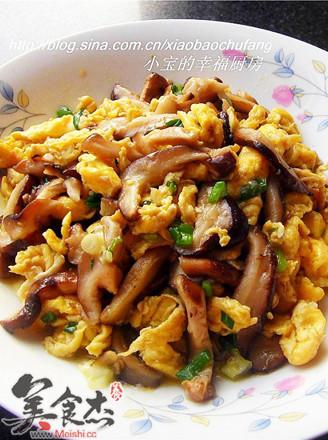香菇杭椒炒鸡蛋的做法