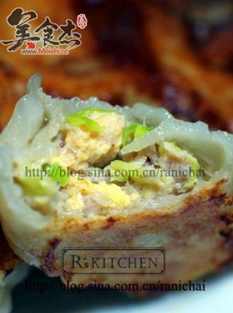 韭黄虾米鸡蛋煎饺