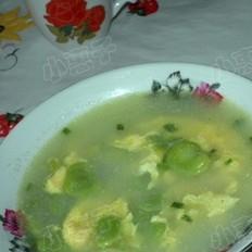 嫩豆瓣蛋花汤的做法