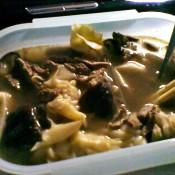 香菇牛肉煮馄饨