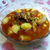腊鸭腿焖土豆
