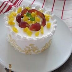 红提奶油菠萝蛋糕