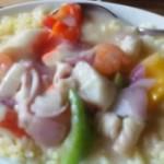 蟹棒蝦仁海鮮飯