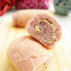 肉松馅紫薯面包