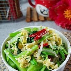 青菜炒豆皮丝