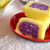紫薯玉米粘糕