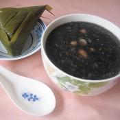 黑芝麻粽子粥