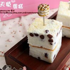蜜红豆天使蛋糕