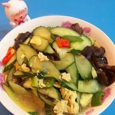木耳鸡蛋炒黄瓜