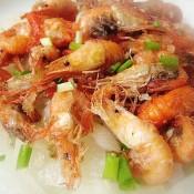 油炸洋葱河虾