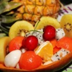 五彩水果盅