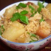 土豆五花肉煲仔饭