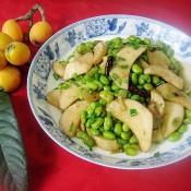 蚝油杏鲍菇炒毛豆