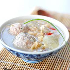 蛤蜊冬瓜肉丸汤