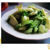 毛毛菜炒鞭笋
