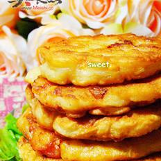 玉米鲜虾饼