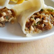 牛肉青椒蒸饺