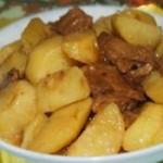 酱牛肉炒土豆