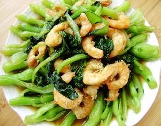 海米油菜的做法
