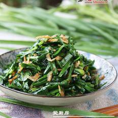 韭菜炒虾皮