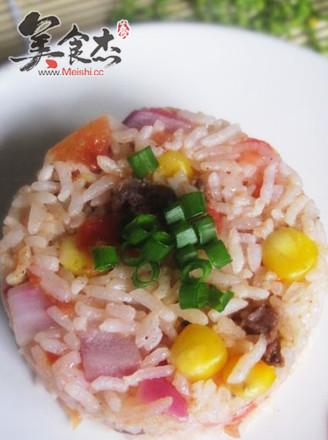 番茄牛肉炒饭的做法