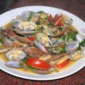 罗勒炒花蛤