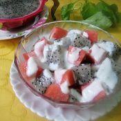 西瓜火龙果沙拉