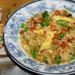 杂蔬菜鸡蛋炒饭