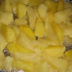 芝士烤薯角