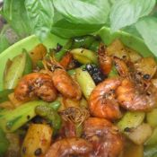 土豆黄瓜烧虾