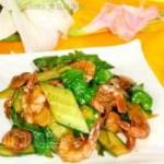 青瓜炒海虾