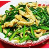 韭苔炒蛋皮