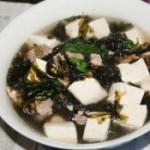 排骨豆腐紫菜汤