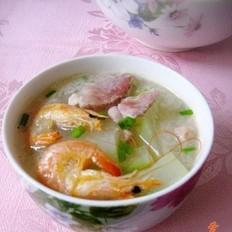 咸肉虾干冬瓜汤