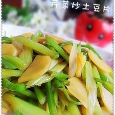 芹菜炒土豆片