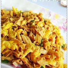 腐竹炒鸡蛋