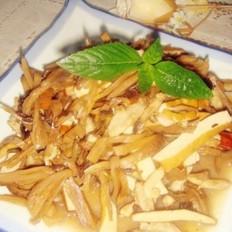 肉丝豆腐干炒大头菜
