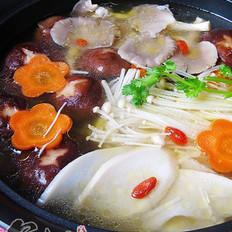 鸡汤杂菇煲