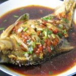 剁椒香葱蒸鳊鱼